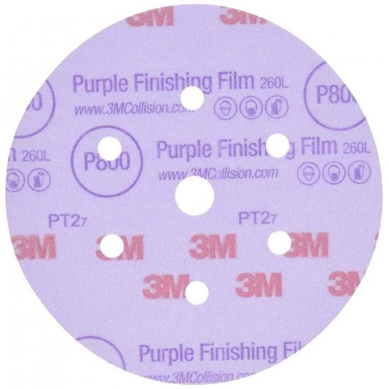 3M 260L+ Hookit™ Μοβ Λειαντικός Δίσκος Φινιρίσματος 150mm