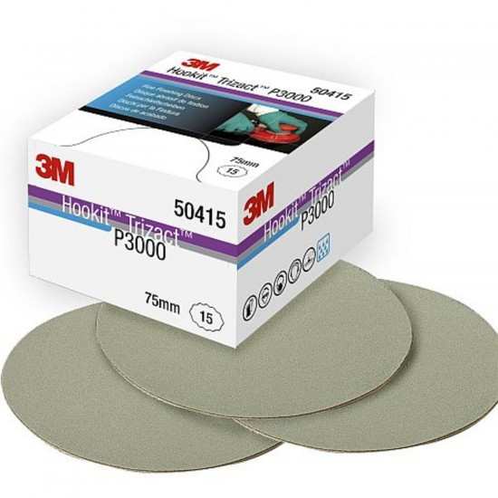 3M 50415 Trizact™ Hookit™ Λειαντικός Δίσκος από Αφρώδες Υλικό P3000 75mm