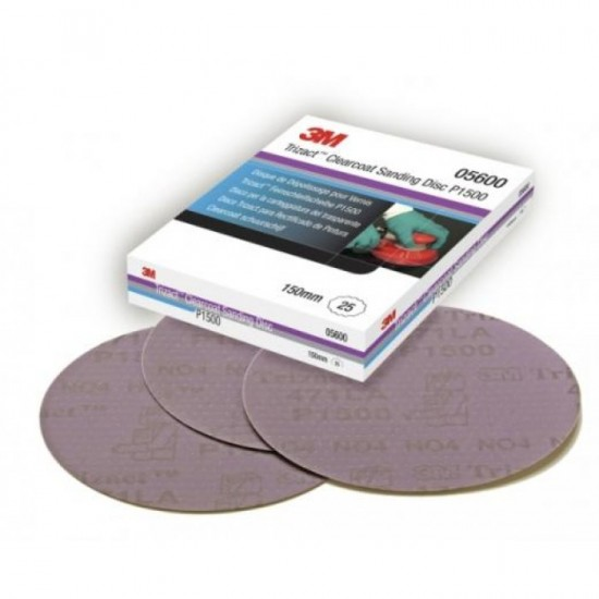 3M 5600 Trizact™ Hookit™ Λειαντικός Δίσκος Λείανσης Βερνικιού P1500 150mm