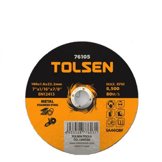 TOLSEN 76102 ΔΙΣΚΟΣ ΚΟΠΗΣ ΣΙΔΗΡΟΥ INOX 115x1,2x22mm