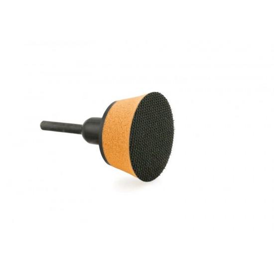 Flexipads 48220 Μίνι Βάση Δραπάνου Με Σφουγγάρι Και Άξονα 6mm Hookit 50mm