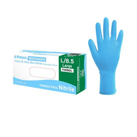 Finite Nitrile γάντια μιας χρήσης χονδρά L-XL 50τεμ