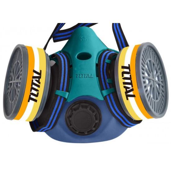 TOTAL THRS02 Μάσκα προστασίας μισού προσώπου με 2 φίλτρα FFP3